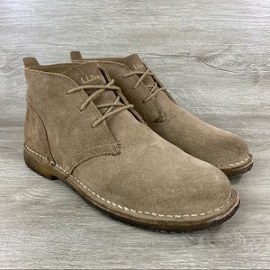 LL Bean Men's Suede Leather Chukka Boots 10.5 WIDE